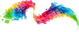 Fototapety Abstract geometric colorful curve vector