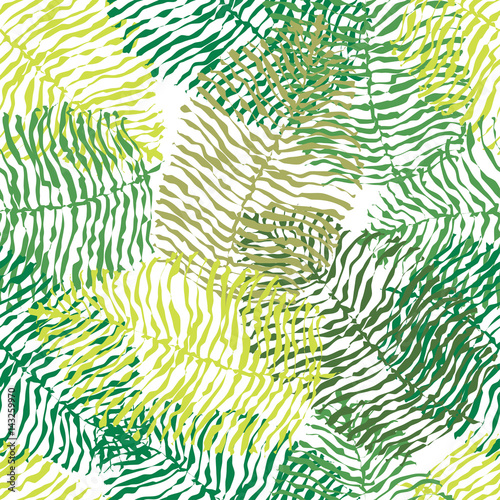 Fototapeta Green vector seamless pattern.
