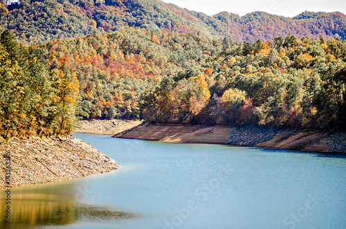 Poster nature scenes arounf lake fontana in great smoky mountains