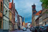 Street in Medieval old city in Brugge