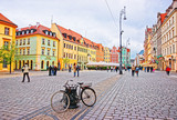 Bicycle at Market Square in Wroclaw