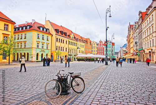Fototapety, obrazy : Bicycle at Market Square in Wroclaw