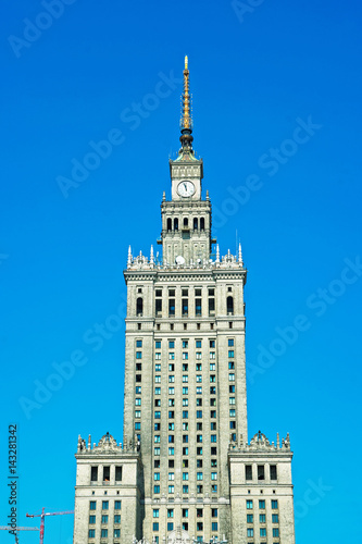 Spire of Palace of Culture and Science in Warsaw - 143281342