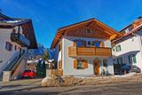 Street with Chalets and Alps winter Garmisch Partenkirchen