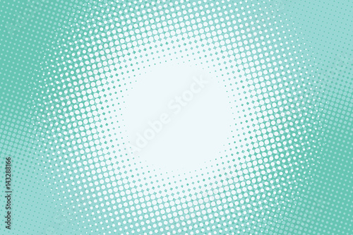 Turquoise green background lighting in the centre