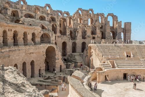 Ruined Colosseum in Tunisia, El Jem