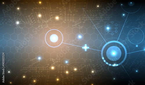 Abstract technology particle. Virtual molecule background. Computer generated for business solution and presentation
