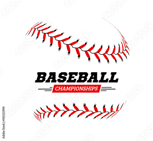 Baseball ball on white background.