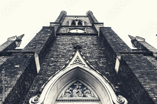 Detail View of a vintage Anglican church  window