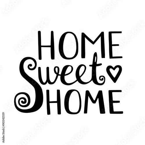 Plakát Home Sweet Home lettering