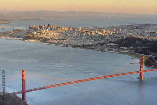 Poster San Francisco Bay Area Aerial View