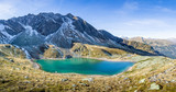 Alpine mountain landscape with mountain lake in the alps