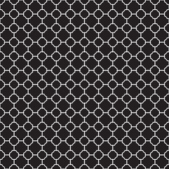 Seamless Vintage Geometric Lattice Pattern