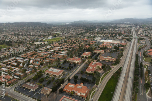 Plakat Aerial helicopter shot of Oxnard