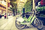 Publiczny rower na ulicy