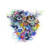 красочный силуэт бабочек на абстрактном фоне