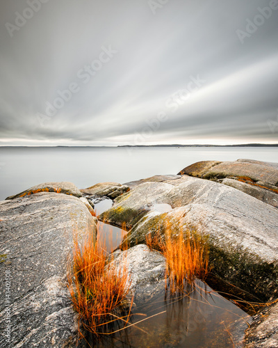Plexiglas Stockholm Long exposure of sea landscape in the Swedish archipelago outside Stockholm