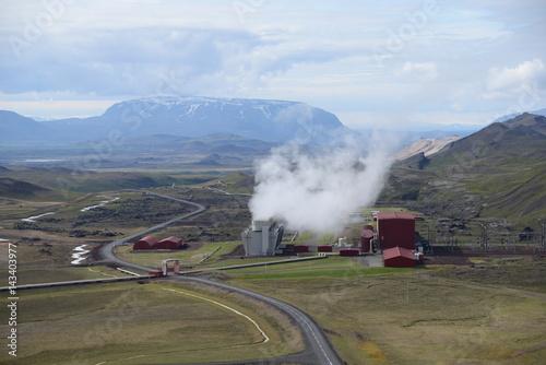 Energiegewinnung auf Island Poster