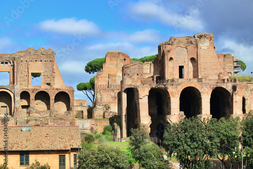 Palatine Hill Imperial Palace Ancient Ruins In Rome Buy