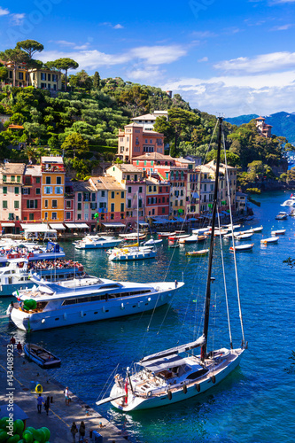Luxury Italian holidays - beautiful Portofino in Liguria Poster