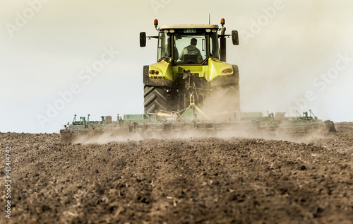 Field cultivation, preparation to plant Poster