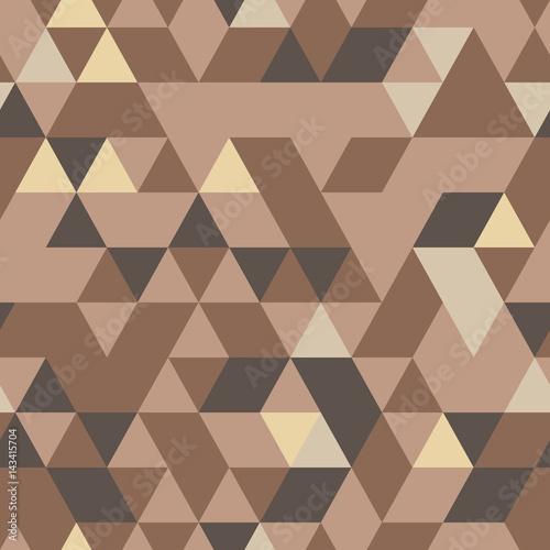 Materiał do szycia Khaki wzór z trójkątnym ochrony ornament