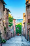 Fototapeta Uliczki - Certaldo Italy © waku