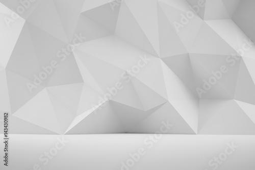 Poster Abstrakte 3D Wand als Hintergrund