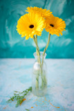 Bouquet from yellow gerberas