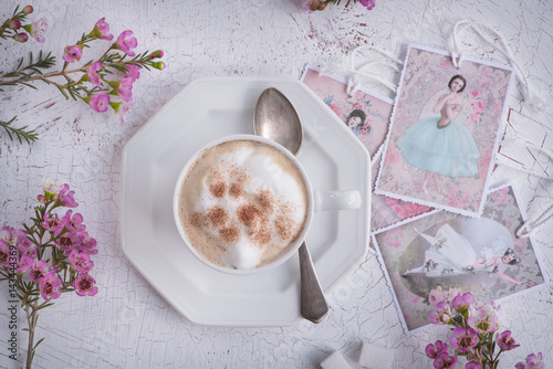 Foto op Canvas Chocolade Cappuccino (Kaffeegenuss)