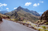 Winding roads leading through the hills of Gran Canaria