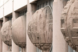 Mannheim - Płaskorzeźba na budynku biblioteki