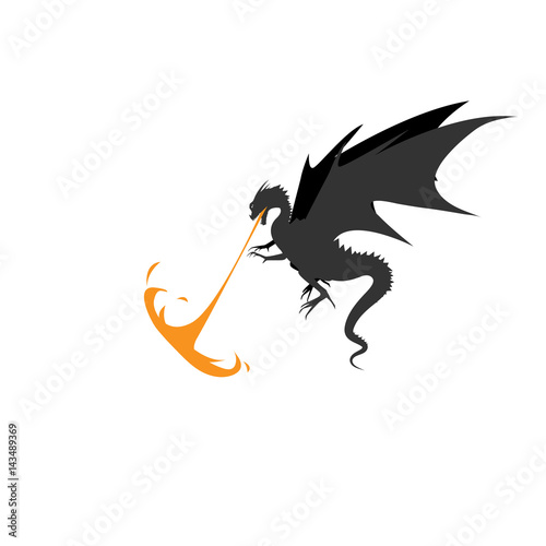 Dragon fire monsters design vector