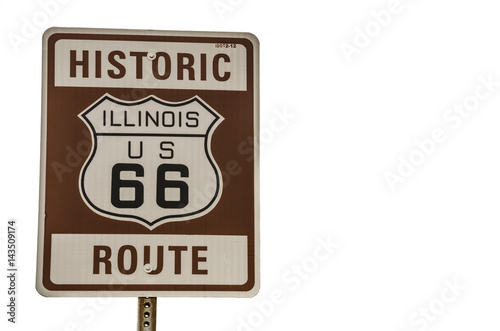 Poster Illinois Route 66 Sign