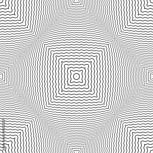 Seamless checked convex pattern. Zigzag lines texture. - 143523527