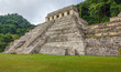 The large pyramid in the main square in the ancient city of Palenque - Mexico, Lstin America