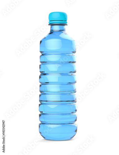 Poster water bottle, isolated on white background