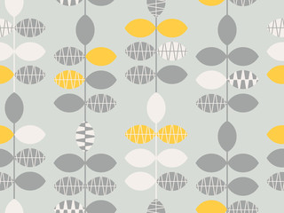 seamless retro pattern with leaves