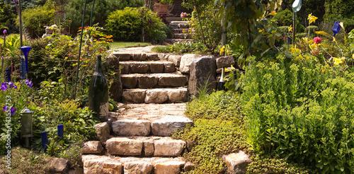 Foto Murales Idyllische Gartenanlage