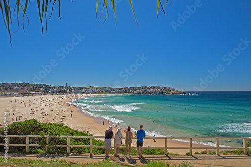 Fotobehang Sydney Blick auf den legendären Bondi Beach