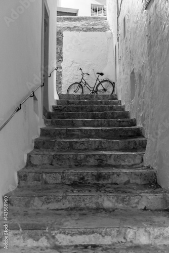 Dalt Vila stairs, Eivissa. Spain