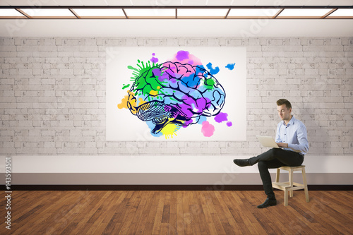 Creative mind concept Poster