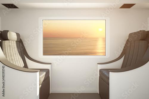 Luxury train seats Poster