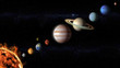 planets of the Solar System view from space - 143598796