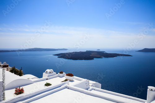 Whitewashed roofs in Santorini, Greece