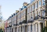 London - March 30: A row of typical town houses in London Kensington and Notting Hill on March 30, 2017.