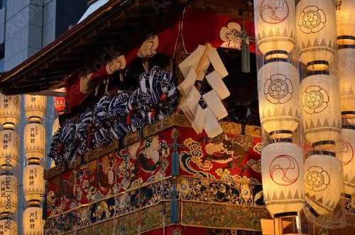 Papiers peints Kyoto Lanterns of Gion festival, Kyoto Japan. 祇園祭駒形提灯 宵山 京都
