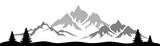 Silhouette Berge Wald