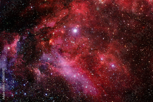 Nebula in deep space. Elements of this image furnished by NASA. - 143658787