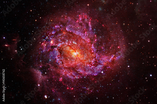 Incredibly beautiful spiral galaxy in outer space Poster
